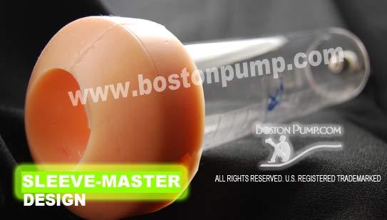 """2.5"""" BOSTONPUMP SLEEVE-MASTER DESIGN PENIS ENHANCER CYLINDER"""